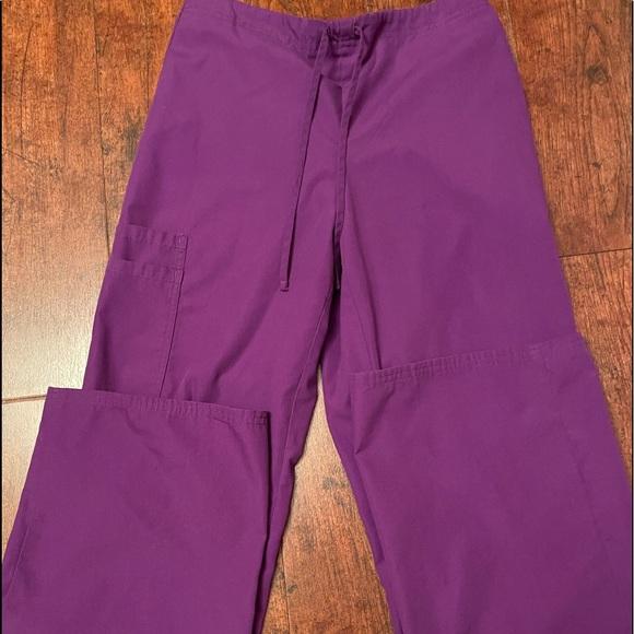 Purple scrub pants size Xs